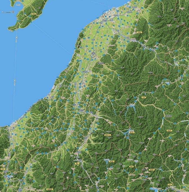 新潟から水上 (Mapion 3Dmap より).jpg